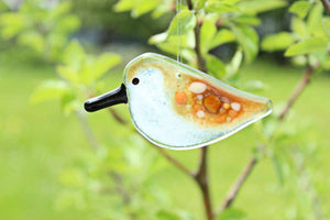 Hanging Sandpiper Chick by The Glass Bakery (Fused Glass Art)