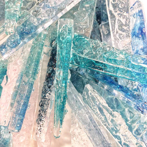 assorted recycled glass icicles