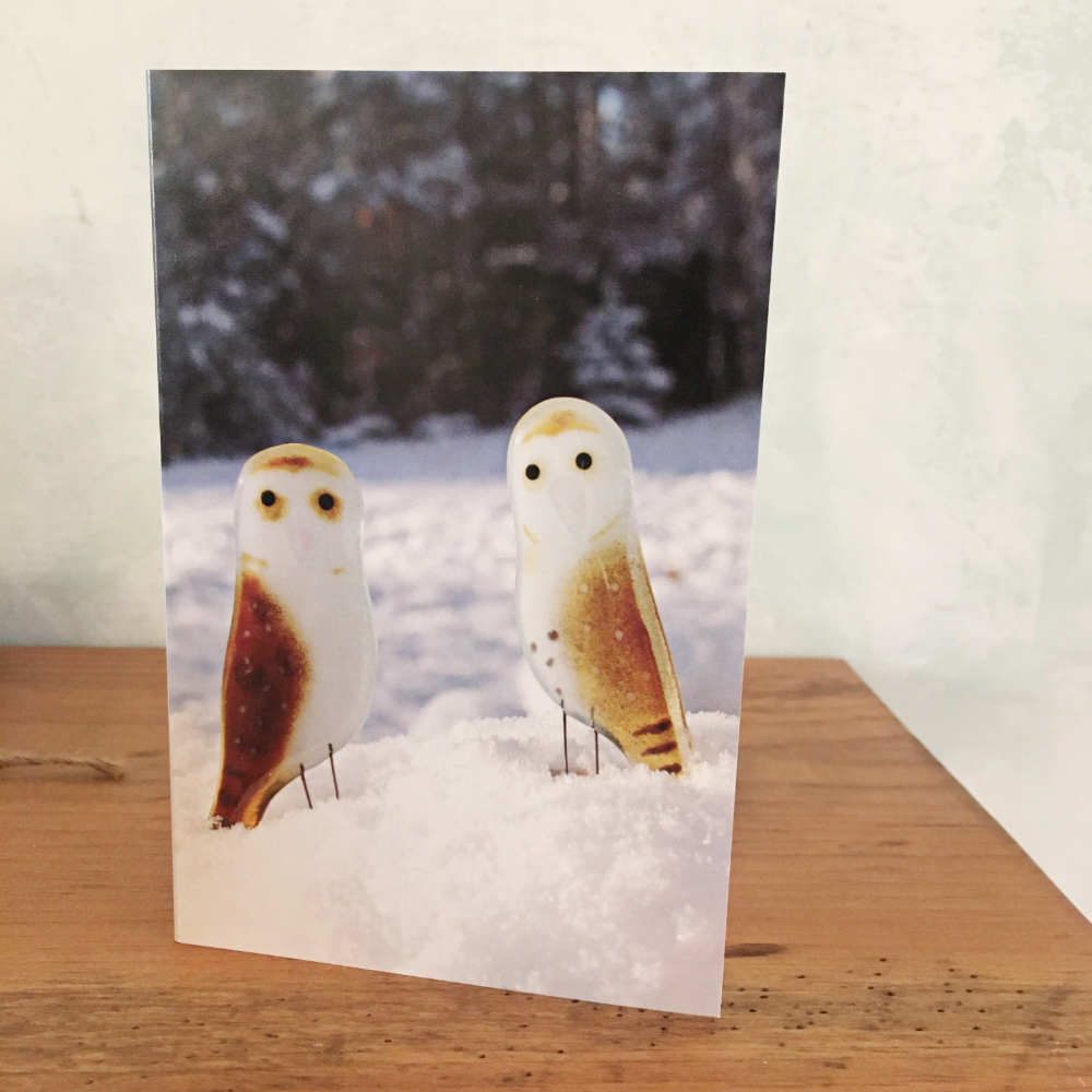 Owl Winter Holidays Greetings Card
