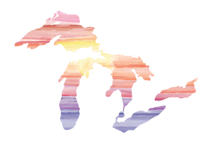 Great Lakes Sunset Decal