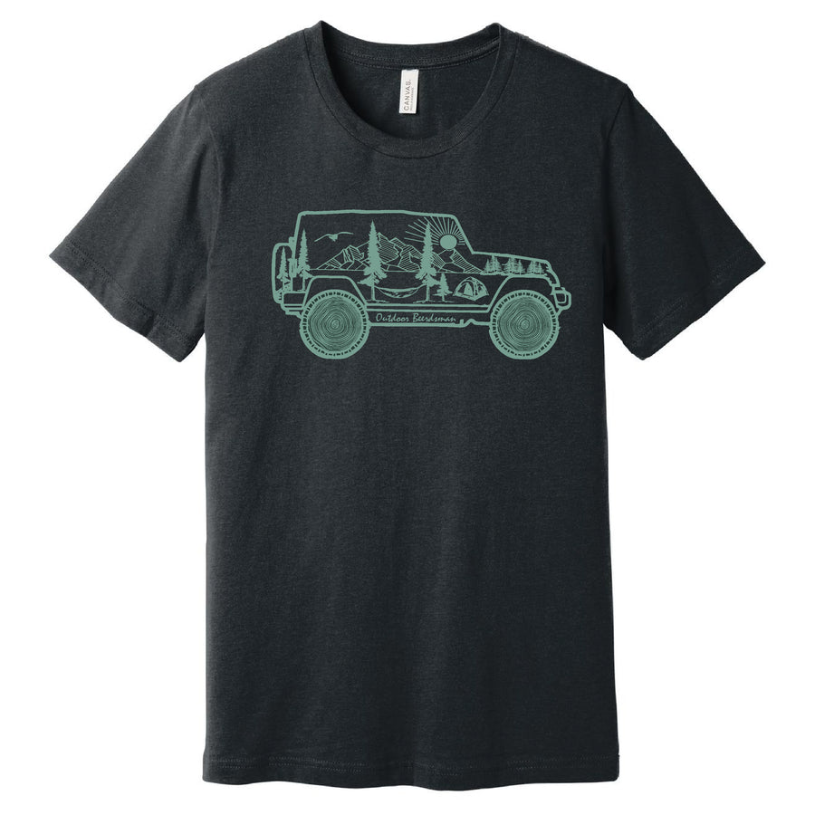 Outdoor Adventure Jeep T Shirt - Outdoor Beerdsman