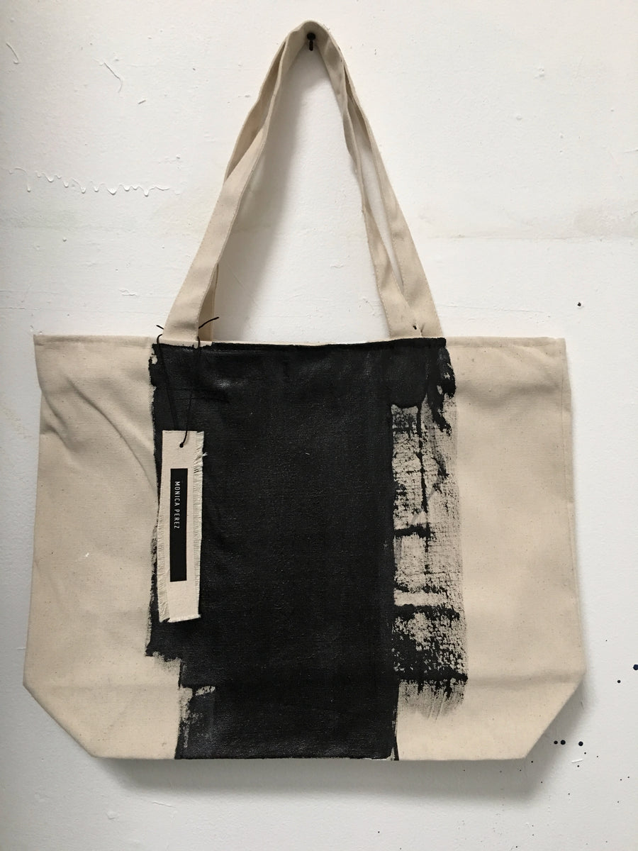 Tote Bag 01 with LEATHER HANDLES