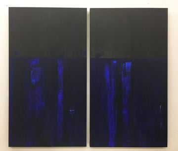 Moonlight Horizon Diptych