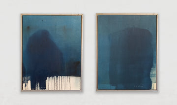 Sunday Blue diptych