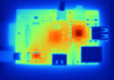 Thermal Image of Raspberry Pi