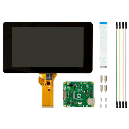 "Raspberry Pi Official 7"" Touch Screen Display Kit Contents"