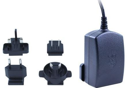 Official Raspberry Pi Power Supply - Black & Plugs