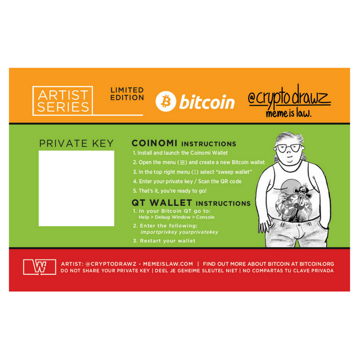Bitcoin Limited Edition (Satoshi's Vision) by Cryptodrawz