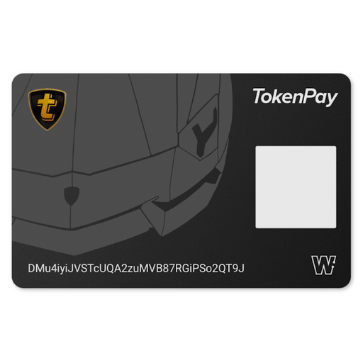 TokenPay Cold Storage Card (Aventador)