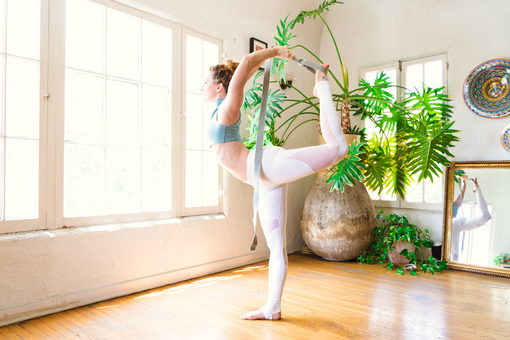 Dancer's Pose: Using a Yoga Strap to Open Your Heart