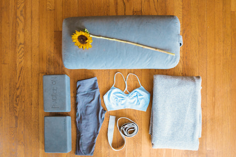 At Home Yoga Space Props