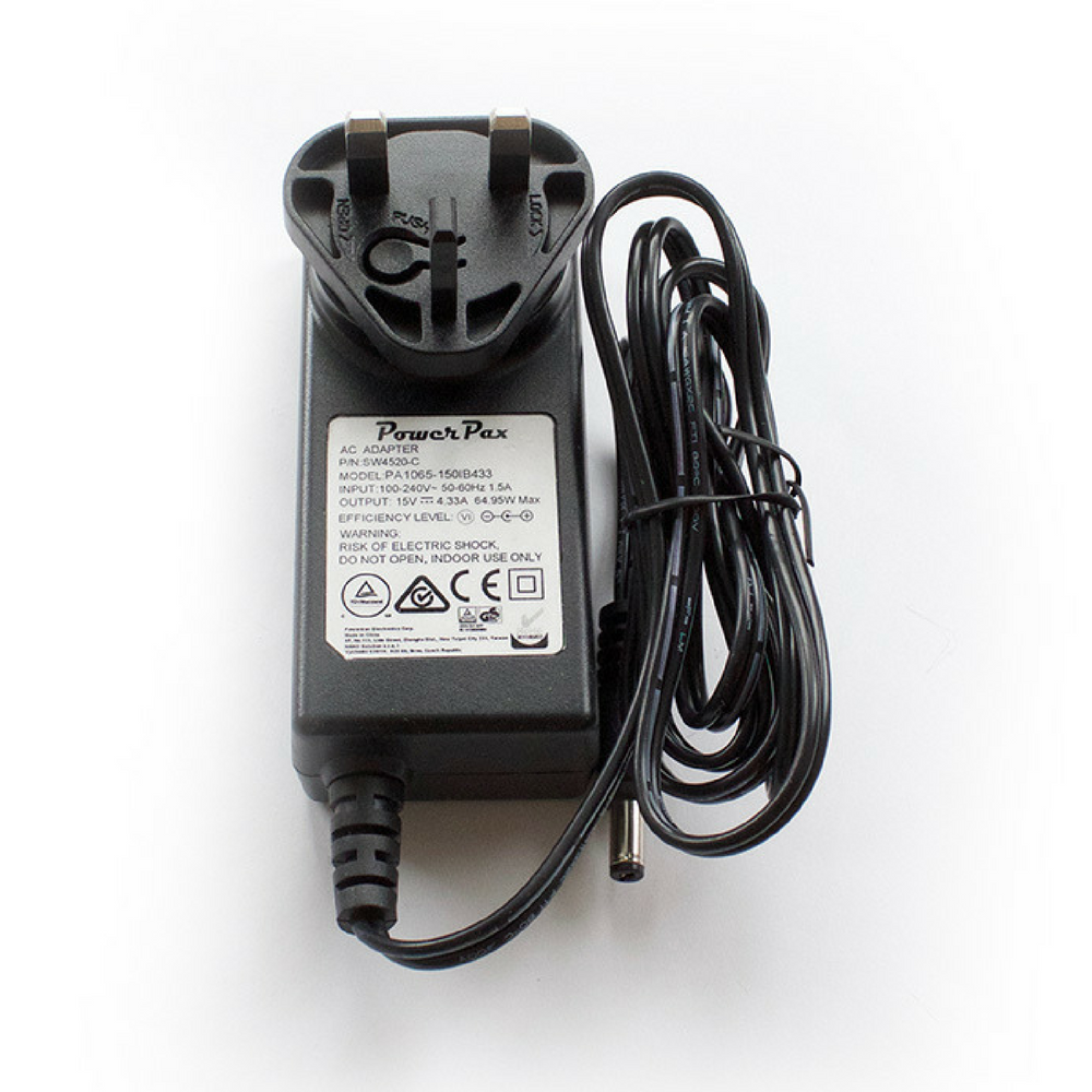 15V 4.33A Power Supply with International AC Plugs