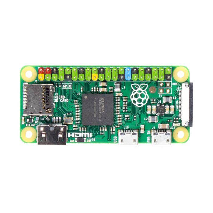 Pi Zero v1.3 with Colour Coded Soldered Header