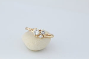 3 Diamond Gold Tree Ring