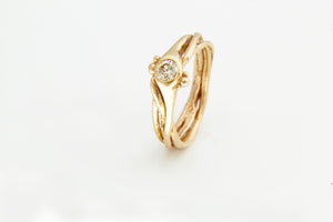 Diamond & Gold Tree Ring