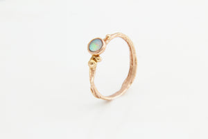Rose Gold Opal Tree Ring