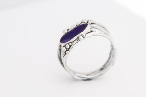Midnight Blue Opal Tree Ring