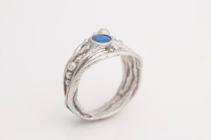 Blue Green Opal Tree Ring