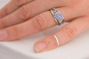 Lavender Opal Tree Ring