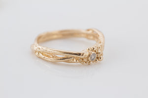 Diamond Gold Tree Ring