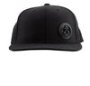 flex fit adjustable yoga hat mantisyoga logo black on black