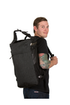 the guru backpack in use man