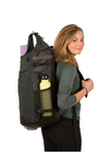 the guru backpack in use woman