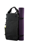 the guru backpack side with mat
