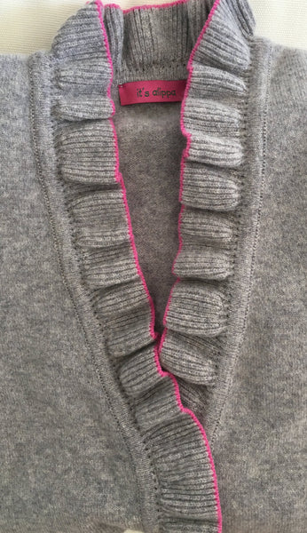 "Damenstrickjacke ""Never without"" - it's alippa"