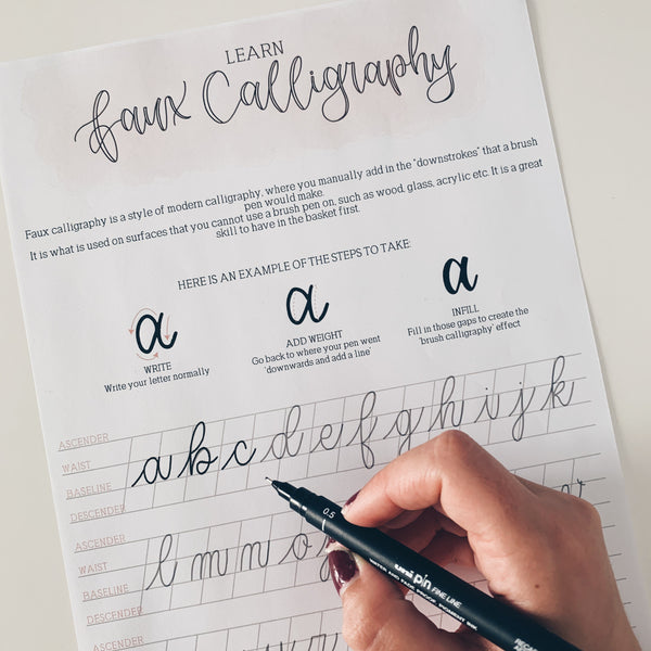 Modern Calligraphy: Learn Faux Calligraphy (+ FREE worksheet)