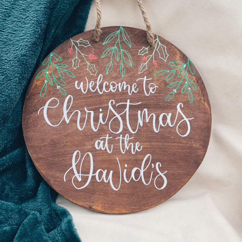 Christmas - Personalised Welcome Sign