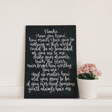 Load image into Gallery viewer, Sentimental Personalised Wood sign - A3