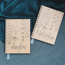 "Load image into Gallery viewer, ""Personalised Name"" Handmade Kraft Notebook"