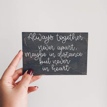 "Load image into Gallery viewer, ""Always Together"" Personalised postcard"