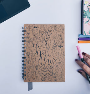"""You got this"" Handmade Kraft Notebook"