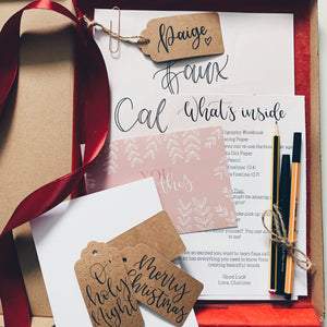 PRE-ORDER: Christmas Edition - Faux Calligraphy Workbook Kit