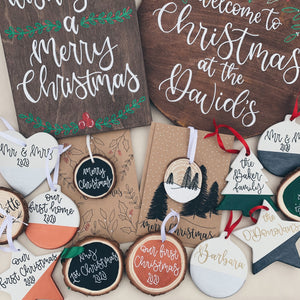 Christmas - Personalised Ceramic Bauble