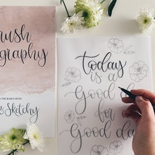 Load image into Gallery viewer, Beginners Brush Calligraphy Workbook Kit
