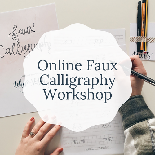 Online Beginners Faux Calligraphy with a personalised work kit | Online Lettering Workshop