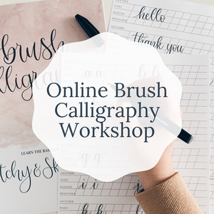 Online Beginners Brush Calligraphy class with personalised kit | Online Lettering Workshop