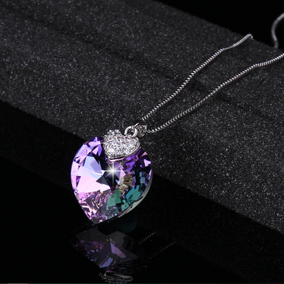Limited Edition Stunning  Swarovski Necklace  Heart Shaped Crystal Pendant