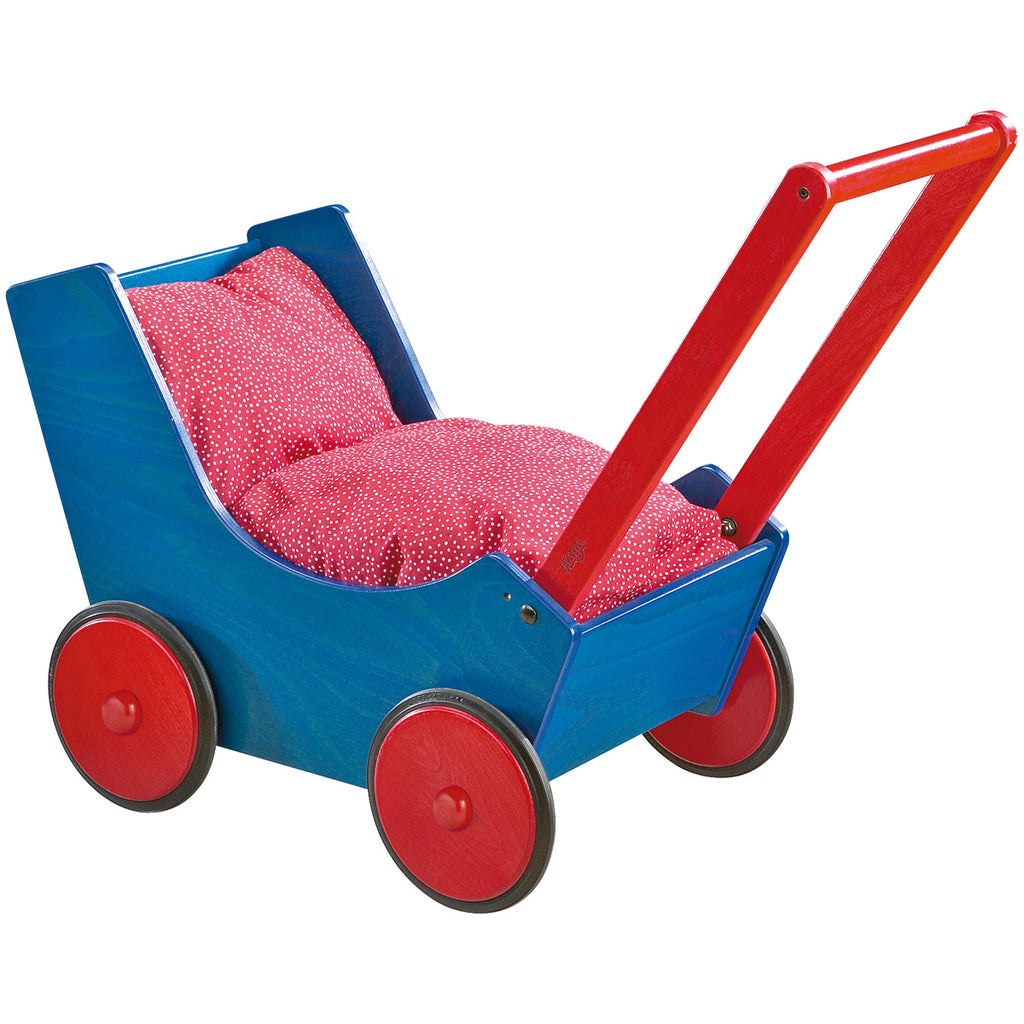 HABA Doll Pram - Blue/Red
