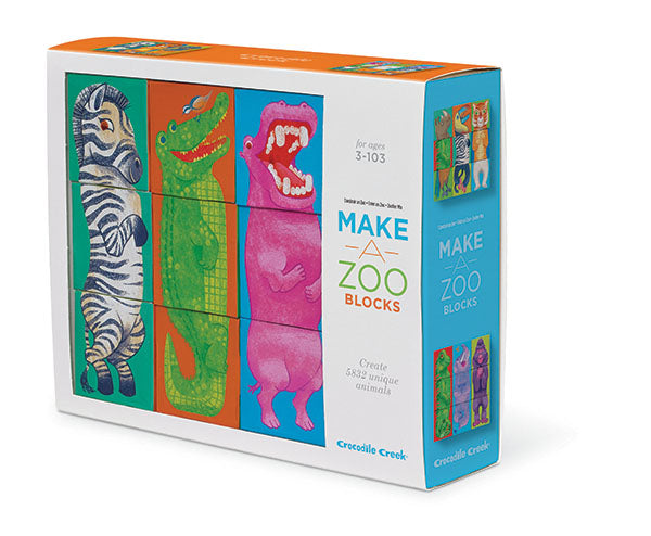 Crocodile Creek Block Puzzle - Make a Zoo