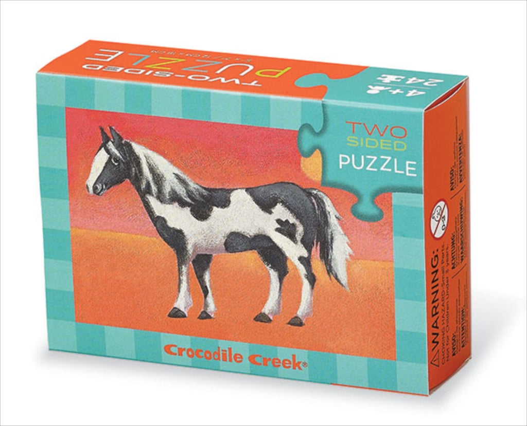 Crocodile Creek Double Sided Puzzle Horse (24 pieces)