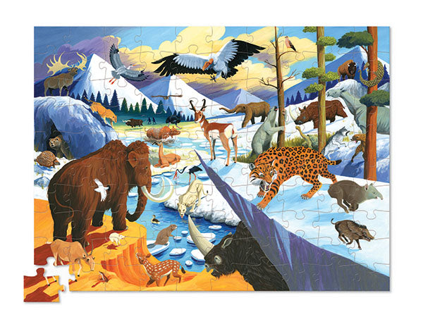 Crocodile Creek 36 Animals Puzzle - Ice Age Animals (100 pieces)