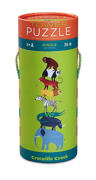 Crocodile Creek Tower Puzzle - Jungle (36 pieces)