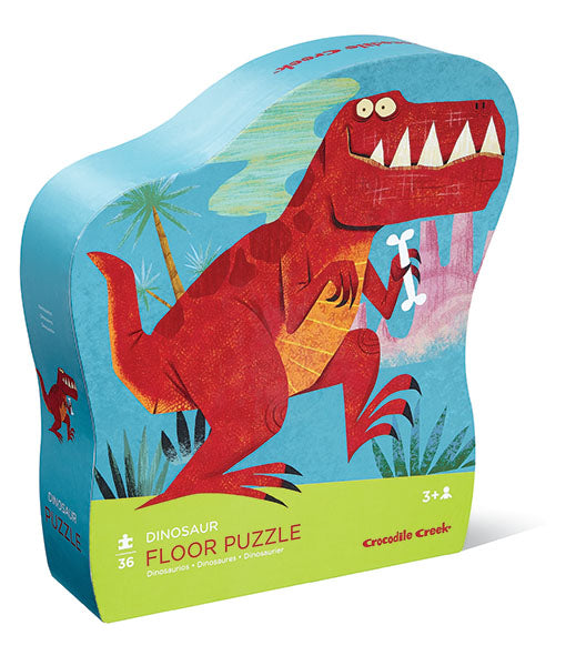 Crocodile Creek Shaped Box Floor Puzzle - Dinosaur (36 pieces)