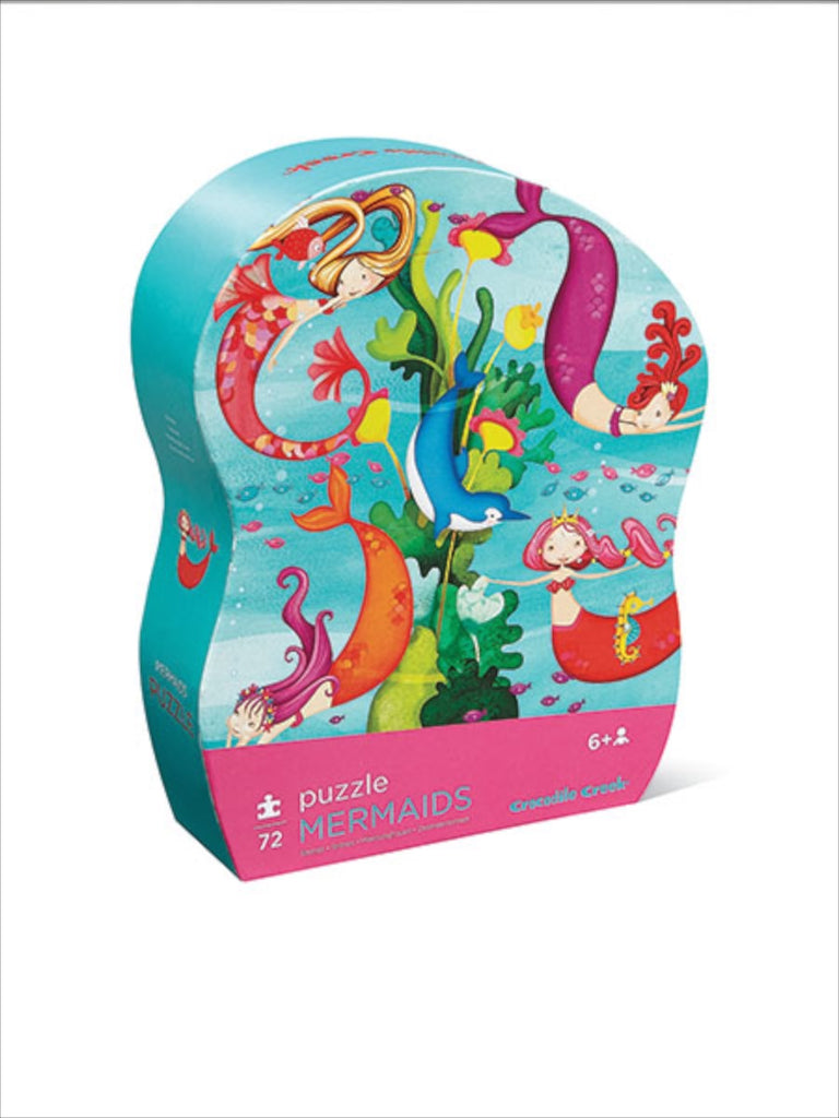 Crocodile Creek Junior Shaped Box Puzzle - Mermaids (72 pieces)