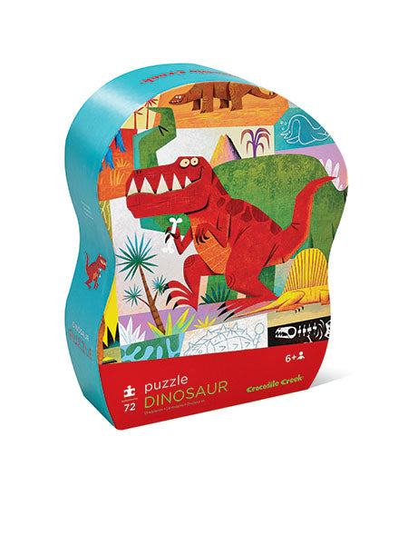 Crocodile Creek Junior Shaped Box Puzzle - Dinosaur (72 pieces)