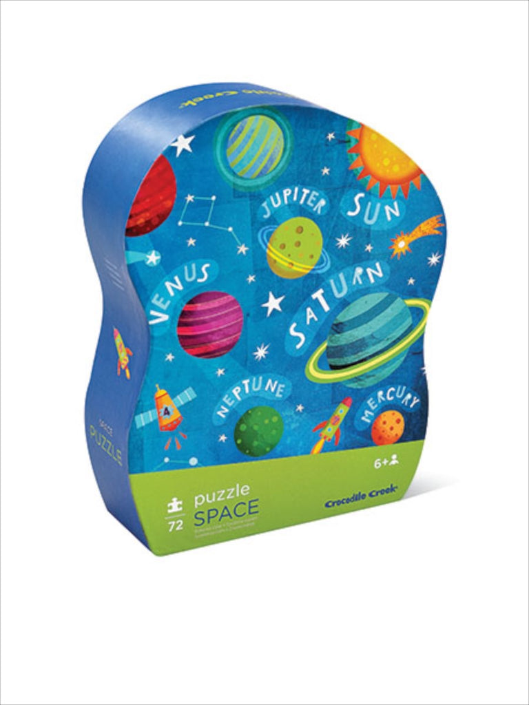 Crocodile Creek Junior Shaped Box Puzzle - Space (72 pieces)